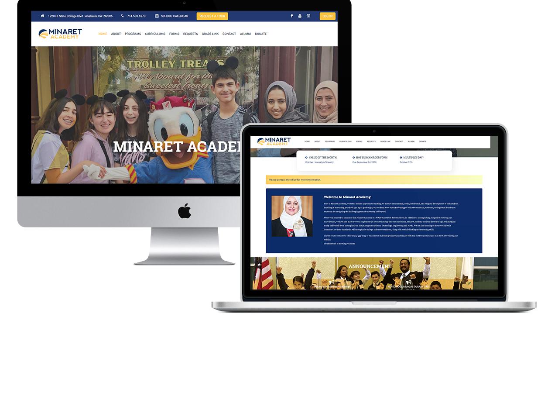 MINARET ACADEMY WEBSITE