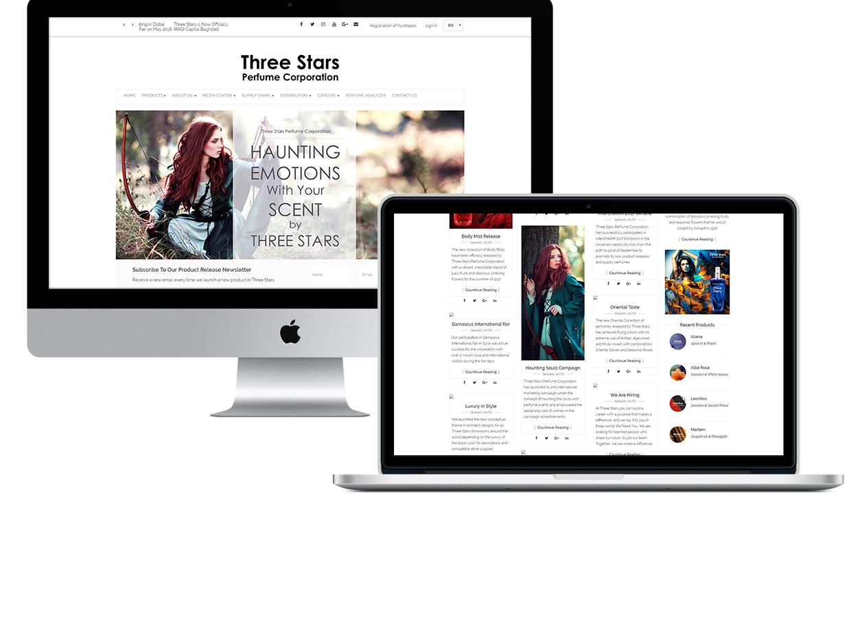THREE STARS WEBSITE